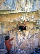Rock Climbing Photo: Jerad entering the crux on American Prayer.