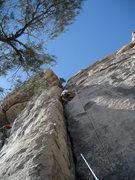 Rock Climbing Photo: Nic at the big foot rest