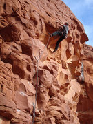 Rock Climbing Photo: Erik Wolfe pulling the roof on the First Ascent of...