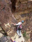 Rock Climbing Photo: DeAngelo exploring the big corner on the last pitc...