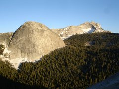 Rock Climbing Photo: Fairview Dome directly across from DAFF Dome with ...