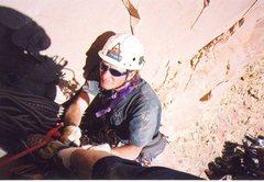 Rock Climbing Photo: Layne on hanging belay pitch 4