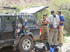 Rock Climbing Photo: gear sorting