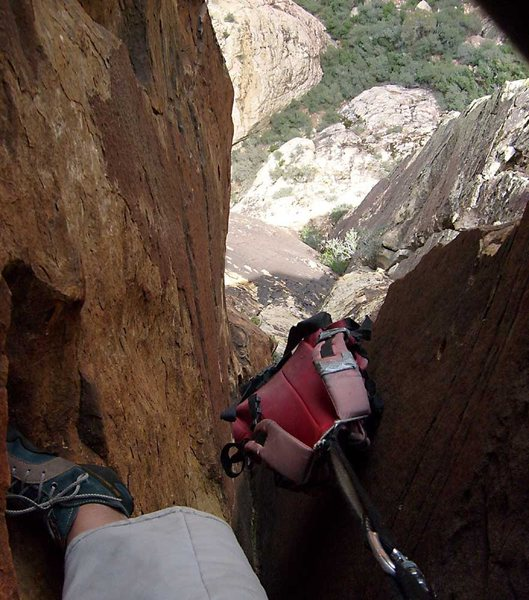 Rock Climbing Photo: Even following did not feel overly secure, with th...