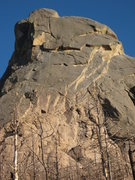Rock Climbing Photo: The left side. The Cloak takes direct line up to t...