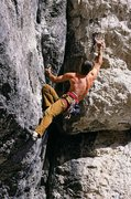 Rock Climbing Photo: Cam on Bushdoctor - Sinks Canyon