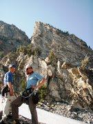 Rock Climbing Photo: Joe and myself back at camp after climbing Open Bo...