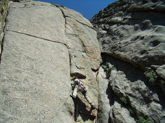 Rock Climbing Photo: Bill Duncan leading the super fine 5.9 offwidth pi...