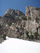 Rock Climbing Photo: From the platforms we scrambled up the gully on th...
