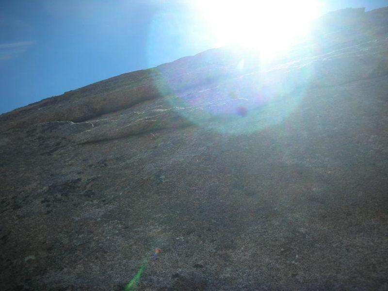 Rock Climbing Photo: A shinny new bolt. It's 11a, honest.