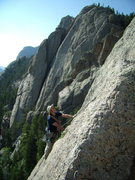 Rock Climbing Photo: Bill Duncan following the fantastic first pitch of...