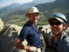 Rock Climbing Photo: Bill Duncan and Alan Ream contemplating Ed's Canti...