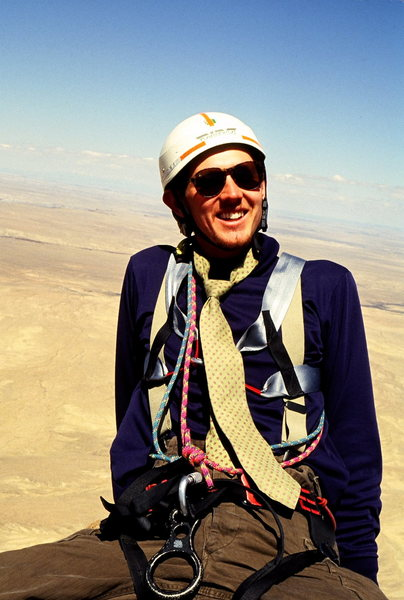 Alan Ream on the summit of Shiprock circa 1991.
