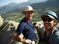 Rock Climbing Photo: Bill and Alan at Lumpy Ridge 2008.  Damm it!, I st...