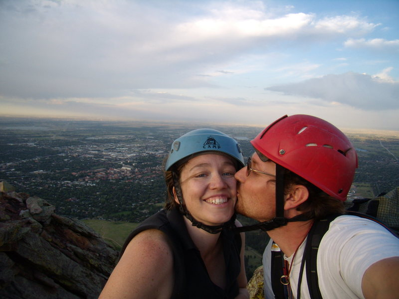 Jenna and I on a rare but wonderful date.  First Flatiron.  Boulder CO.  June 26th 2008.