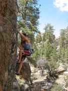 Rock Climbing Photo: Susan drifting upwards into Lost Orbit (5.10b), Ho...