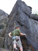 Rock Climbing Photo: Mr. Harkness, contemplating giving it up altogethe...