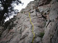 Rock Climbing Photo: Photo taken from between the second and third fir ...