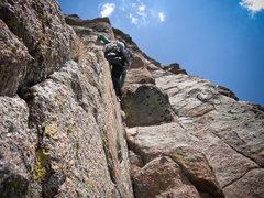 Rock Climbing Photo: Tamara entering the stellar P3 (5.9)corner.  The c...
