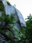 Rock Climbing Photo: Tony working hard on Astrologger.