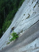 Rock Climbing Photo: Tony following the second pitch of Mercy Me on our...