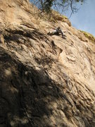 Rock Climbing Photo: Amy climbing Mike's new route.