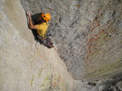 Rock Climbing Photo: Filip on the beautiful 3rd pitch of Oz