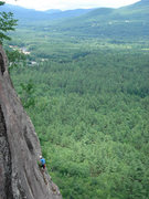 Rock Climbing Photo: a dude on thin air on a pretty summer day...