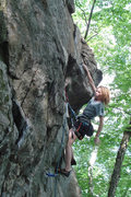 Rock Climbing Photo: lily chilling after making the crux reach on Scene...