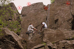 Rock Climbing Photo: 1. Simple Corner (5.3)  2. Static is a Four Letter...