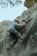 Rock Climbing Photo: Miners Park, Route 1, Philmont Scout Ranch, New Me...