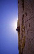 Rock Climbing Photo: Todd Gordon on pitch one.    Photo;  Todd Gordon c...