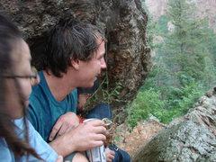 Rock Climbing Photo: Waiting out the rain.