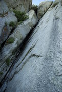Rock Climbing Photo: bottom of the great chockstone. climbs the obvious...