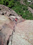 Rock Climbing Photo: Cheyne following me up.
