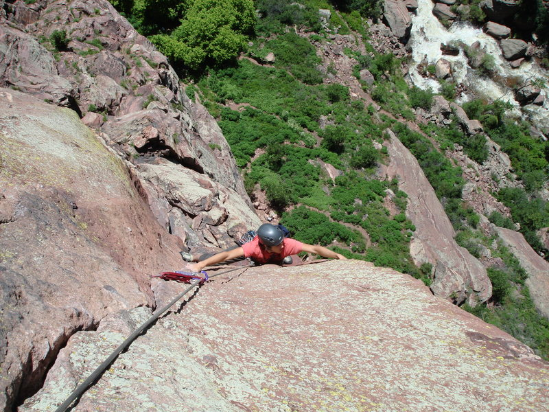 Just past the first crux.