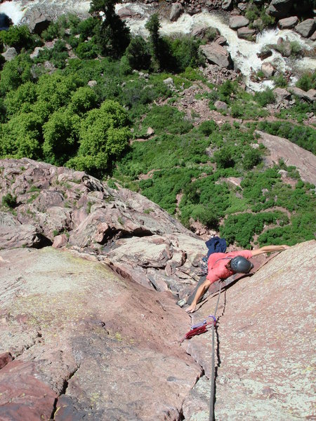 Almost to the belay.