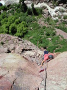 Rock Climbing Photo: Almost to the belay.