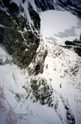 Rock Climbing Photo: Korosadowicz route on Kazalnica. Winter, 1997.