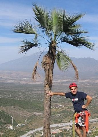 Here i am at the top of Estrellita route, in El Potrero Chico, Mexico.<br> <br> This is an easy/fun/classic route that you must to know in Potrero.<br> <br> After the summit, notheing better than a cold beer in the town =)