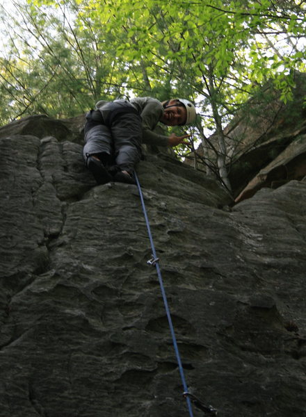 Rock Climbing Photo: Lindi on her first sport lead!