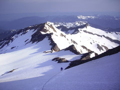 Rock Climbing Photo: Initial slopes of NE Ridge. Joel Therneau, June '0...