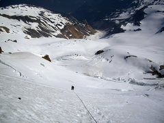 Rock Climbing Photo: NE Ridge of Mt. Baker. Steep snow slopes above Maz...