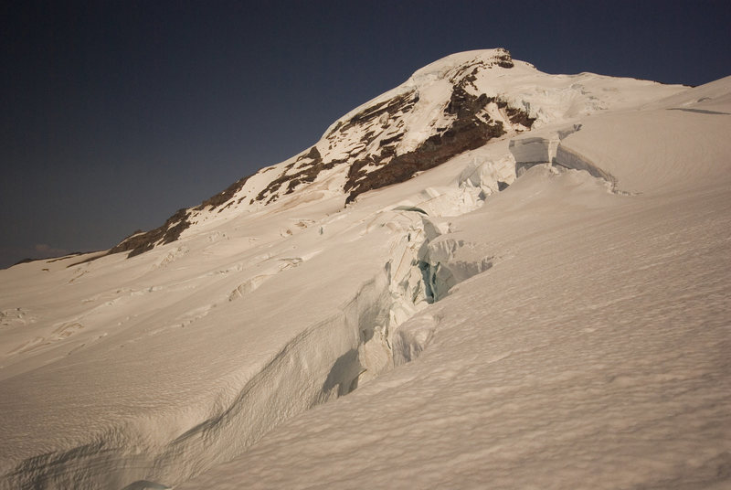 Rock Climbing Photo: Crevasse on Coleman Glacier.