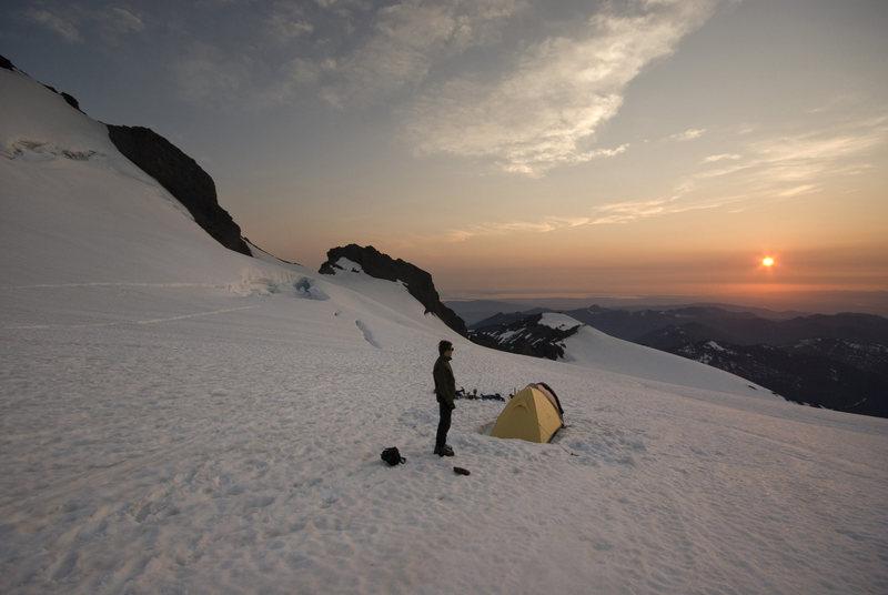 Sunset on Coleman Glacier.