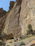 Rock Climbing Photo: Approach to Morning Glory Wall
