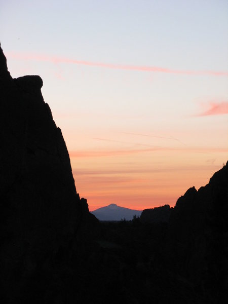 Rock Climbing Photo: Sunset view from our campsite