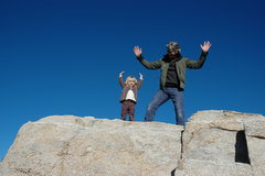 summit!!  <br />Gigi and dad, Windy Point, winter '08