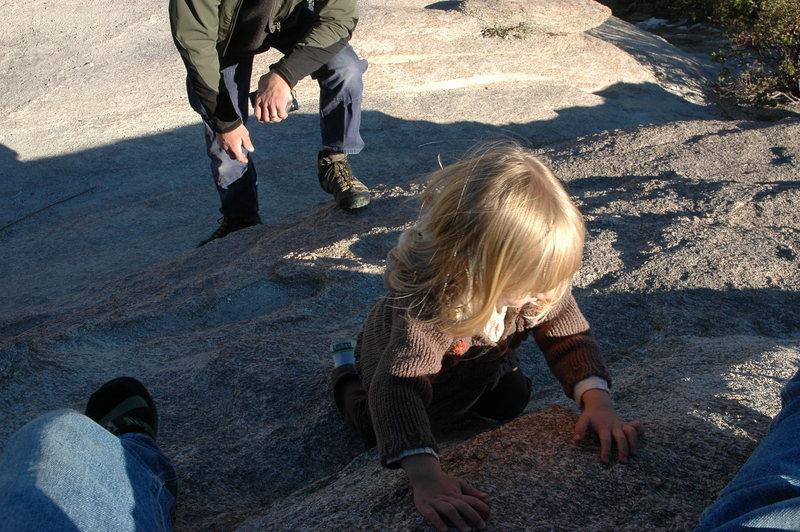 Rock Climbing Photo: Gigi climbs! Windy Point, winter'08
