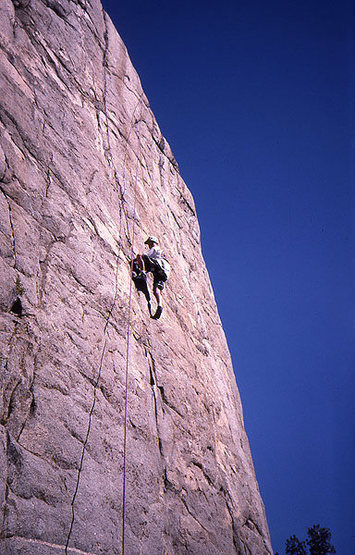 Kevin Bransford on Iris Slab.   Photo;  Todd Gordon